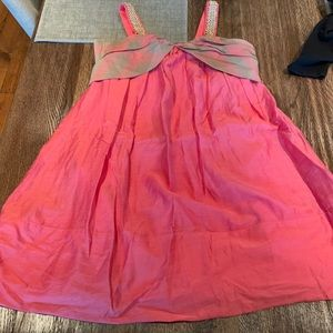 Girls Burberry coral authentic dress 8Y